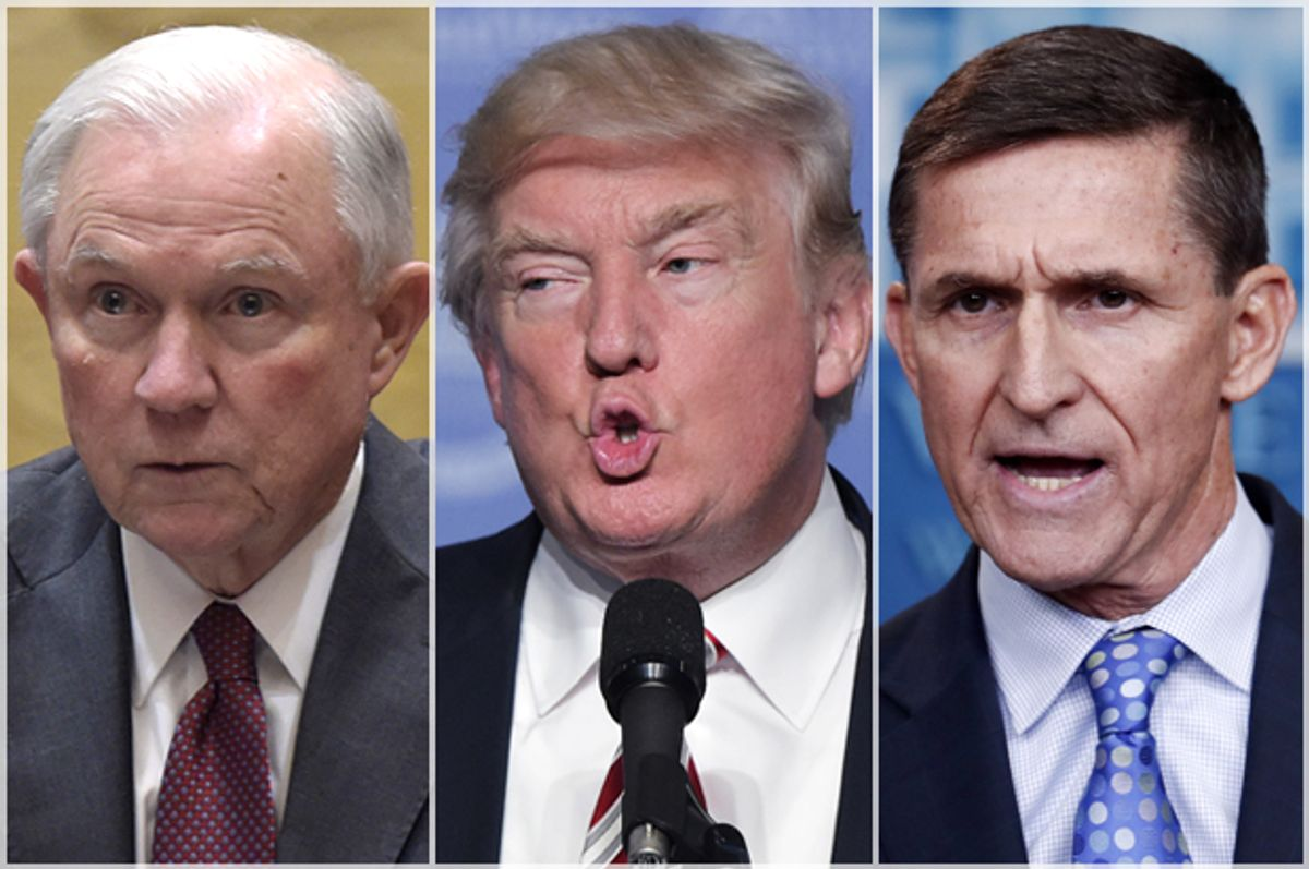 Jeff Sessions; Donald Trump; Michael Flynn   (Afp/getty Images)