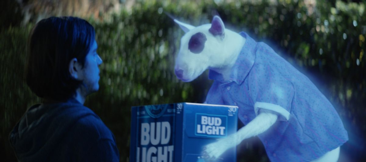 Bud Light spot for Super Bowl 51 with Spuds MacKenzie (AP)
