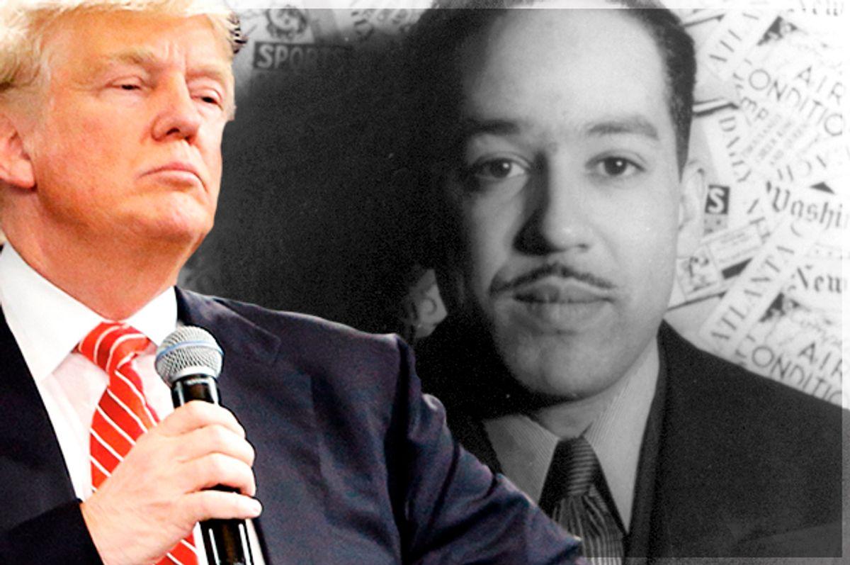 Donald Trump; Langston Hughes (Library Of Congress)