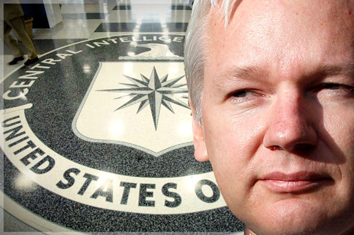 Julian Assange   (Getty/Mark Wilson/AP/Kirsty Wigglesworth/Photo montage by Salon)
