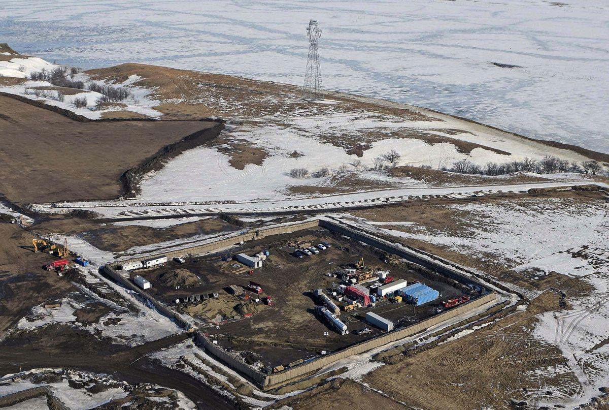 Dakota Access Pipeline site of final pipe installation near Standing Rock, ND (AP)