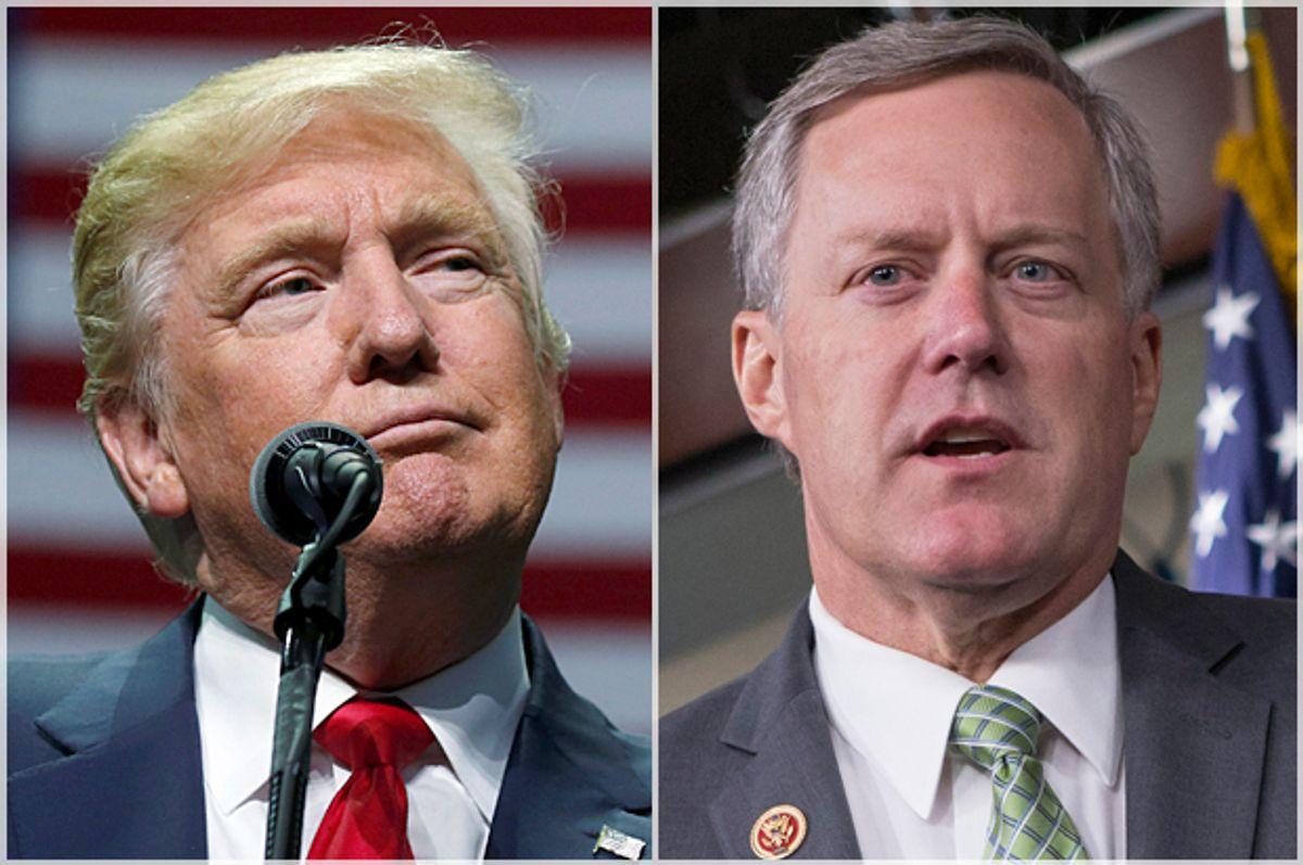 Donald Trump; Mark Meadows   (Reuters/Carlo Allegri/AP/J. Scott Applewhite)