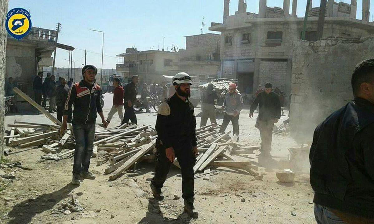 (Syrian Civil Defense White Helmets via AP)