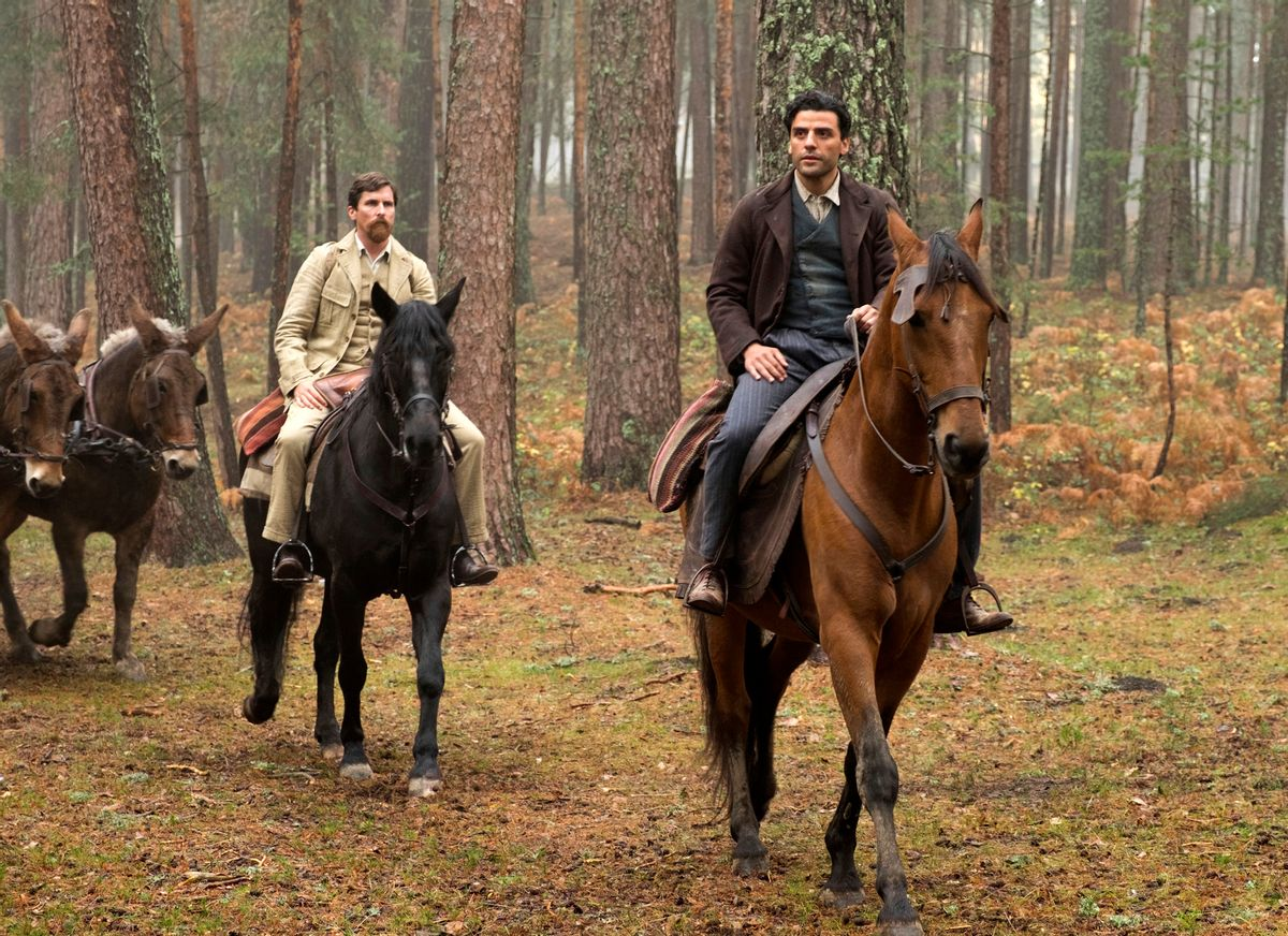 """This image released by Open Road Films shows Christian Bale, left, and Oscar Isaac in a scene from """"The Promise.""""  (Jose Haro/Open Road Films via AP)"""