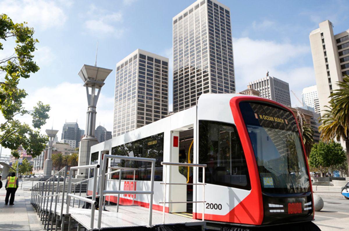 San Francisco Municipal Transportation Agency light rail vehicle    (AP/Alison Yin)