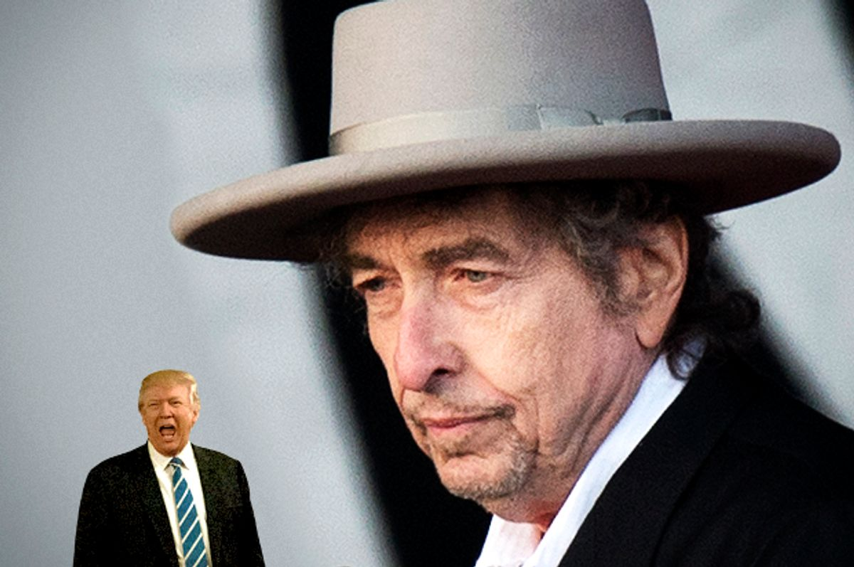 Donald Trump; Bob Dylan   (AP/Getty/Ben Stansall/Salon)