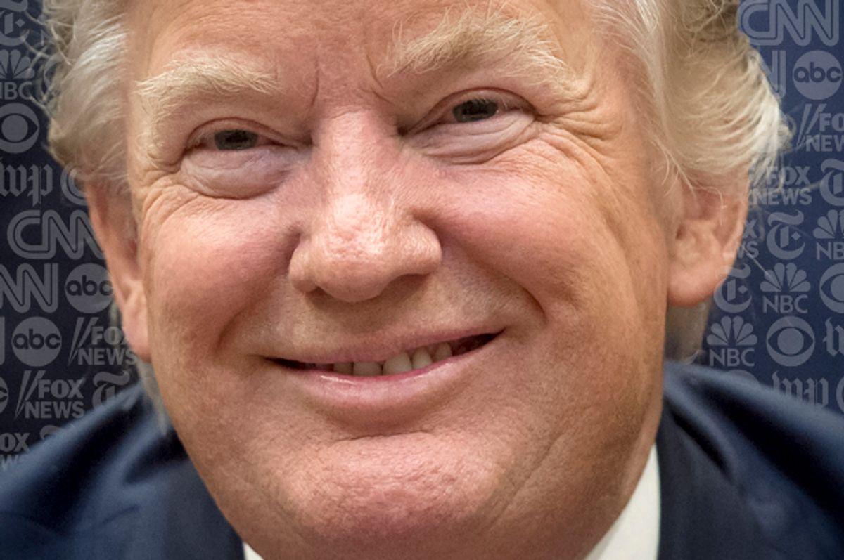 Trump goofs up on the regular.  (Getty/Saul Loeb/Salon)