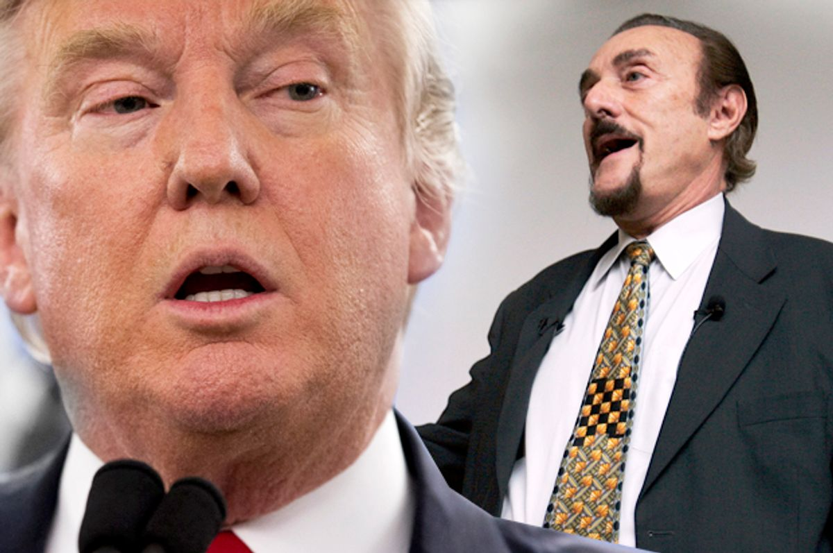 Donald Trump; Philip Zimbardo   (AP/Mary Altaffer/Paul Sakuma/Photo montage by Salon)