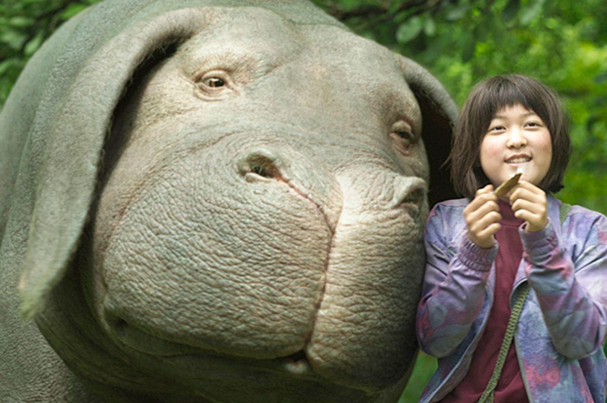 "An Seo Hyun as Mija in ""Okja"" (Netflix)"