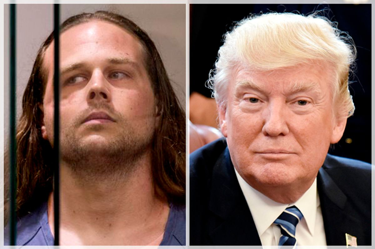 Jeremy Joseph Christian; Donald Trump   (AP/Beth Nakamura/Getty/Olivier Douliery)