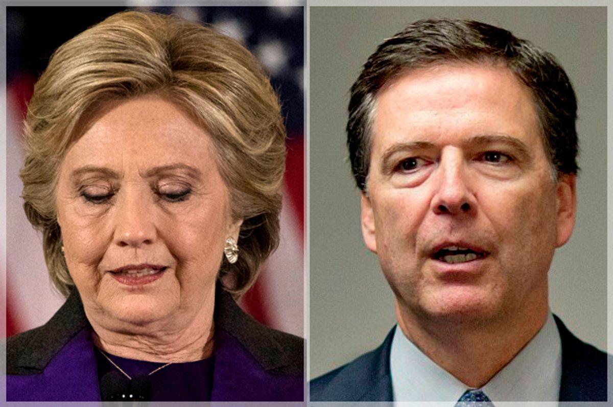 Hillary Clinton; James Comey   (AP/Matt Rourke/David Goldman)