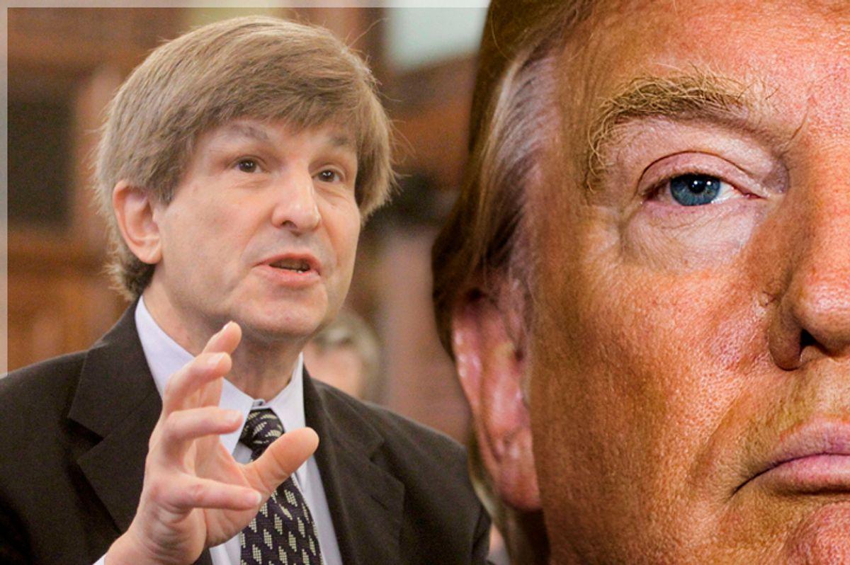 Allan Lichtman; Donald Trump   (AP/Seth Perlman/Reuters/Lucas Jackson/Photo montage by Salon)