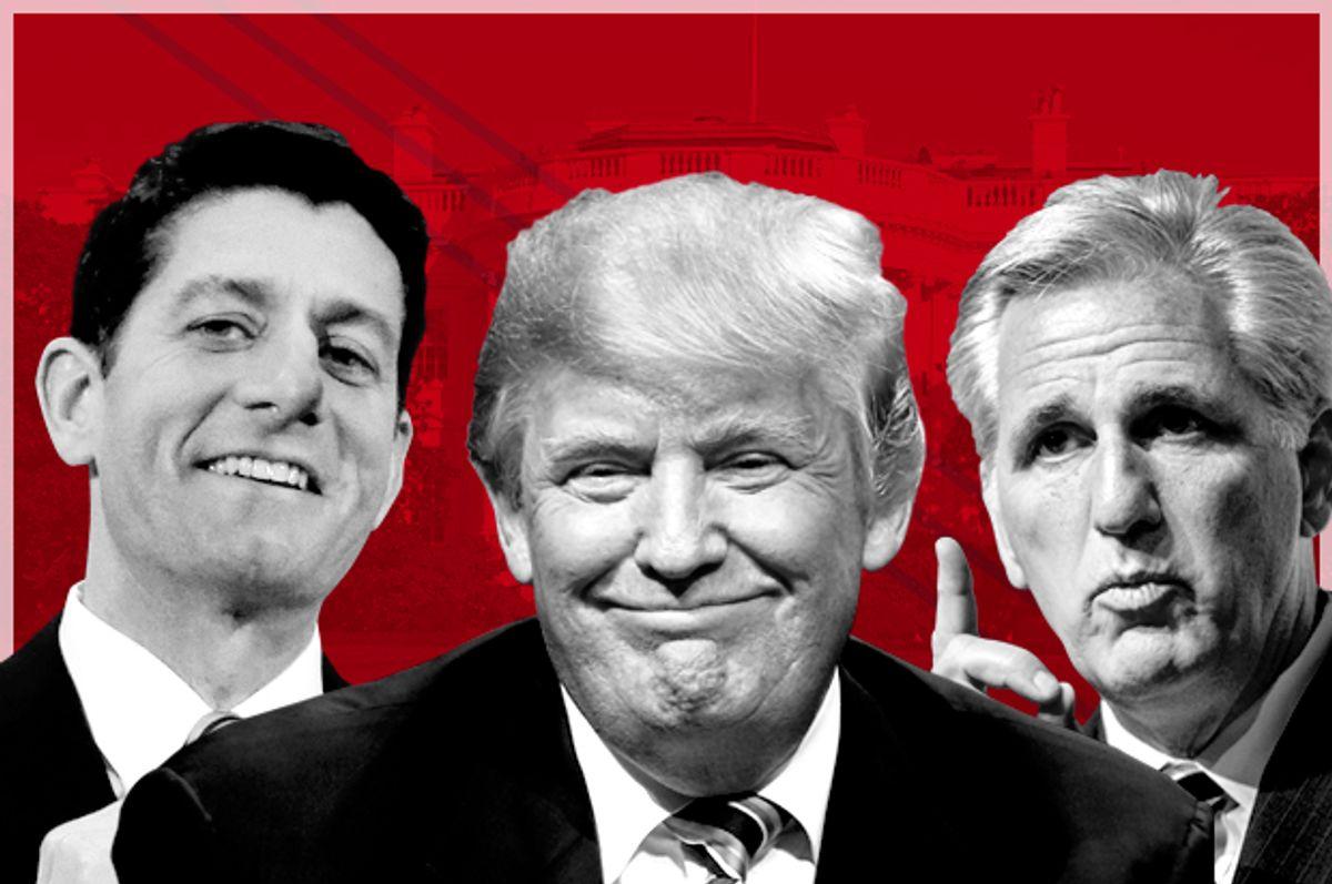 Paul Ryan; Donald Trump; Kevin McCarthy   (AP/Eric Gay/Matt Rourke/Molly Riley/Ron Edmonds/Salon)