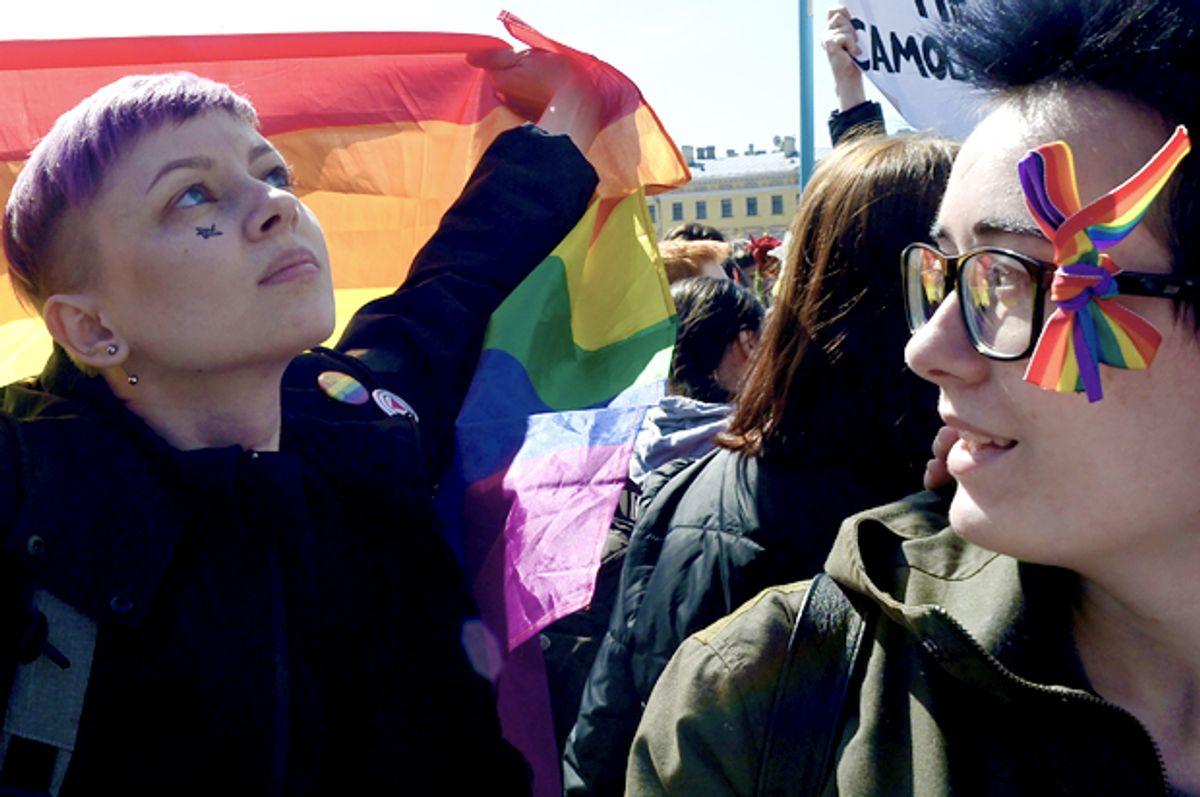 Russian gay rights activists (Getty/Olga Maltseva)