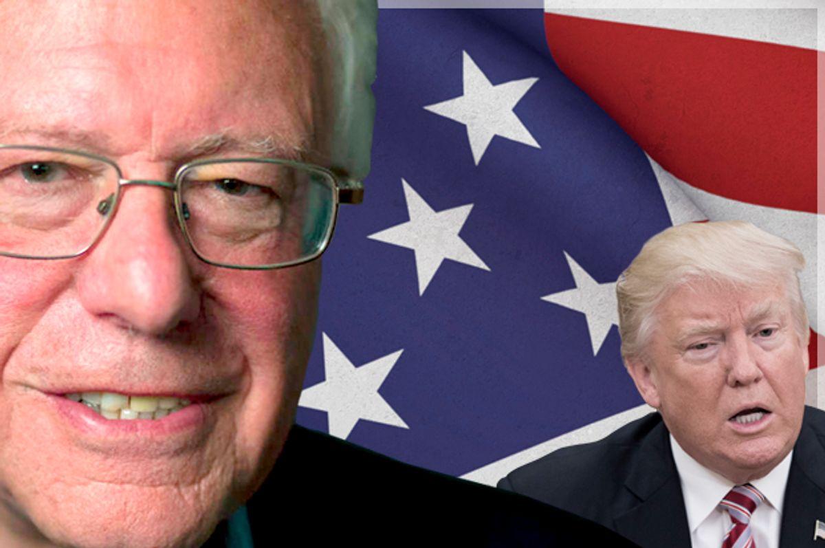 Bernie Sanders; Donald Trump   (AP/AP Photo/Getty/Molly Riley/CreativeStockHub)