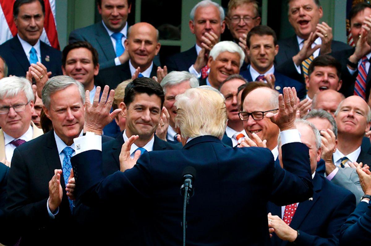 President Trump congratulates House Republicans   (Getty/Mark Wilson)