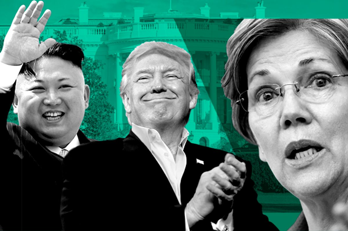 Kim Jong-Un, Donald Trump, Elizabeth Warren   (AP/Wong Maye-E/Susan Walsh/Steven Senne/)