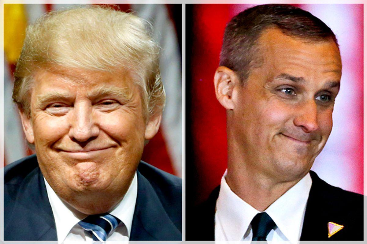 Donald Trump; Corey Lewandowski   (AP/Matt Rourke/Reuters/Lucas Jackson)
