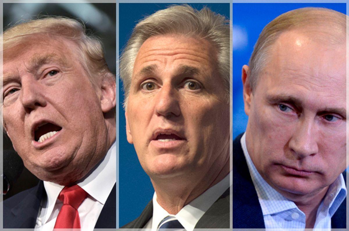 Donald Trump; Vladimir Putin; Vladimir Putin   (Getty/Mandel Ngan/AP/Molly Riley/Alexei Nikolsky)