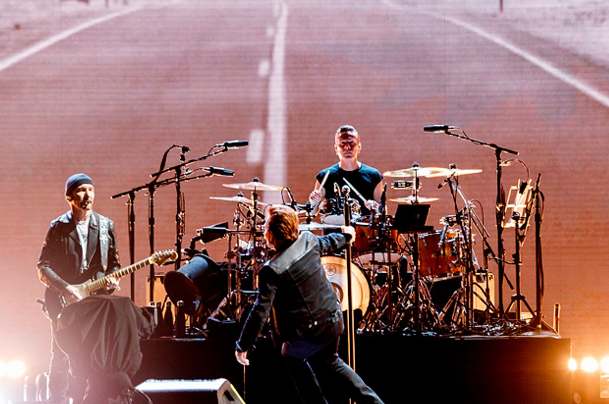 U2 during their 'The Joshua Tree World Tour' (Getty/Andrew Chin)