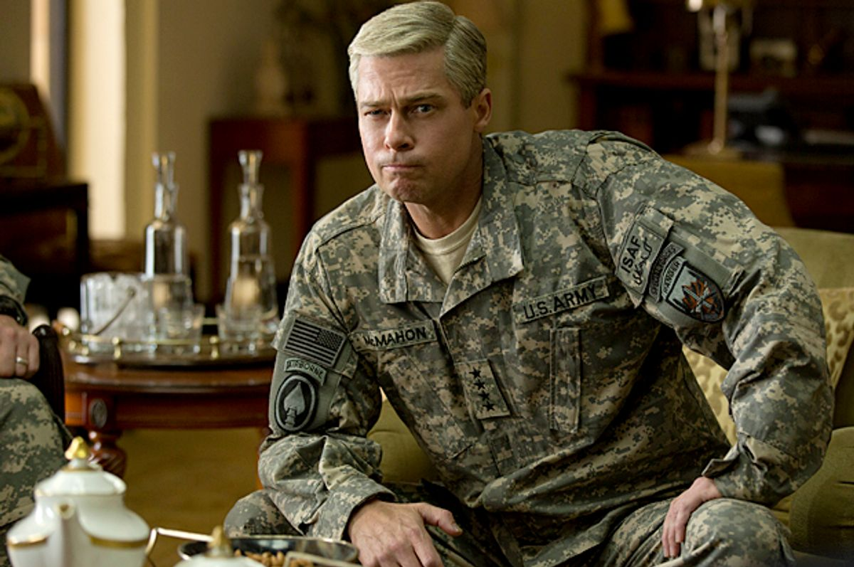 "Brad Pitt in ""War Machine"" (Netflix/Francois Duhamel)"