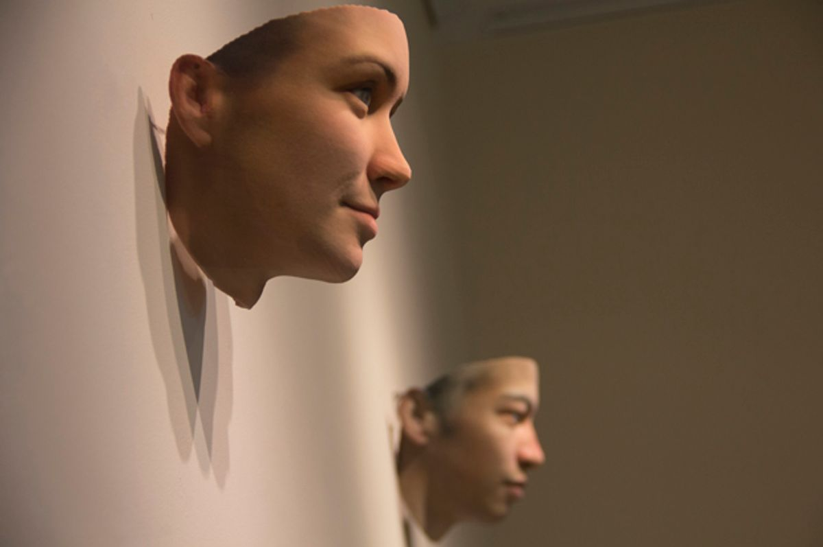 """""""A Becoming Resemblance"""" by by Heather Dewey-Hagborg and Chelsea E. Manning (Courtesy of Fridman Gallery)"""