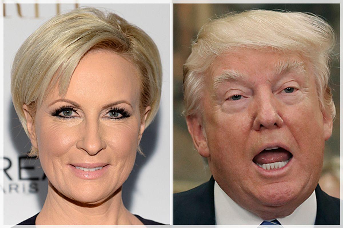Mika Brzezinski; Donald Trump   (AP/Evan Agostini/Getty/Mark Wilson)