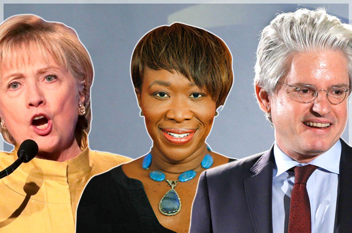 Hillary Clinton; Joy Reid; David Brock   (Getty/ Drew Angerer/AP/Andy Kropa/Danny Johnston)