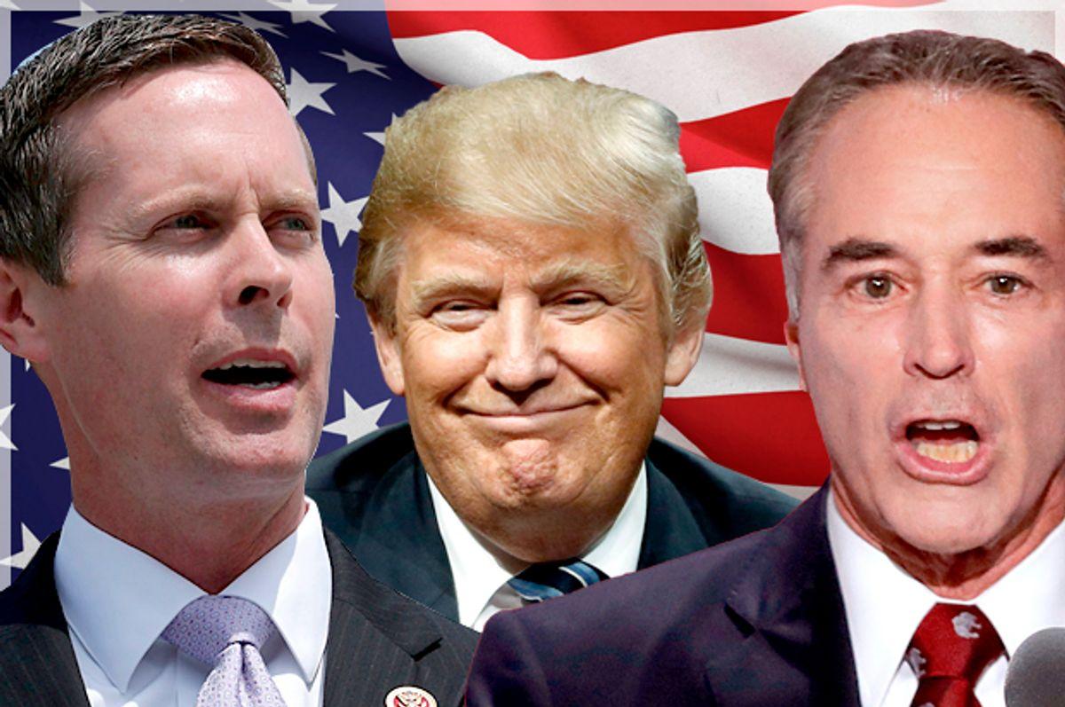 Rodney Davis; Donald Trump; Chris Collins (Getty/Chip Somodevilla/AP/Matt Rourke/J. Scott Applewhite)