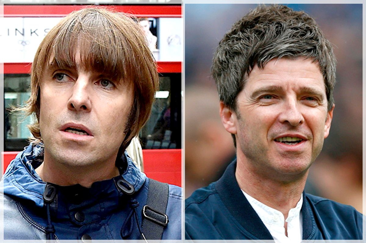 Liam Gallagher; Noel Gallagher   (AP/Reuters/Darren Staples)