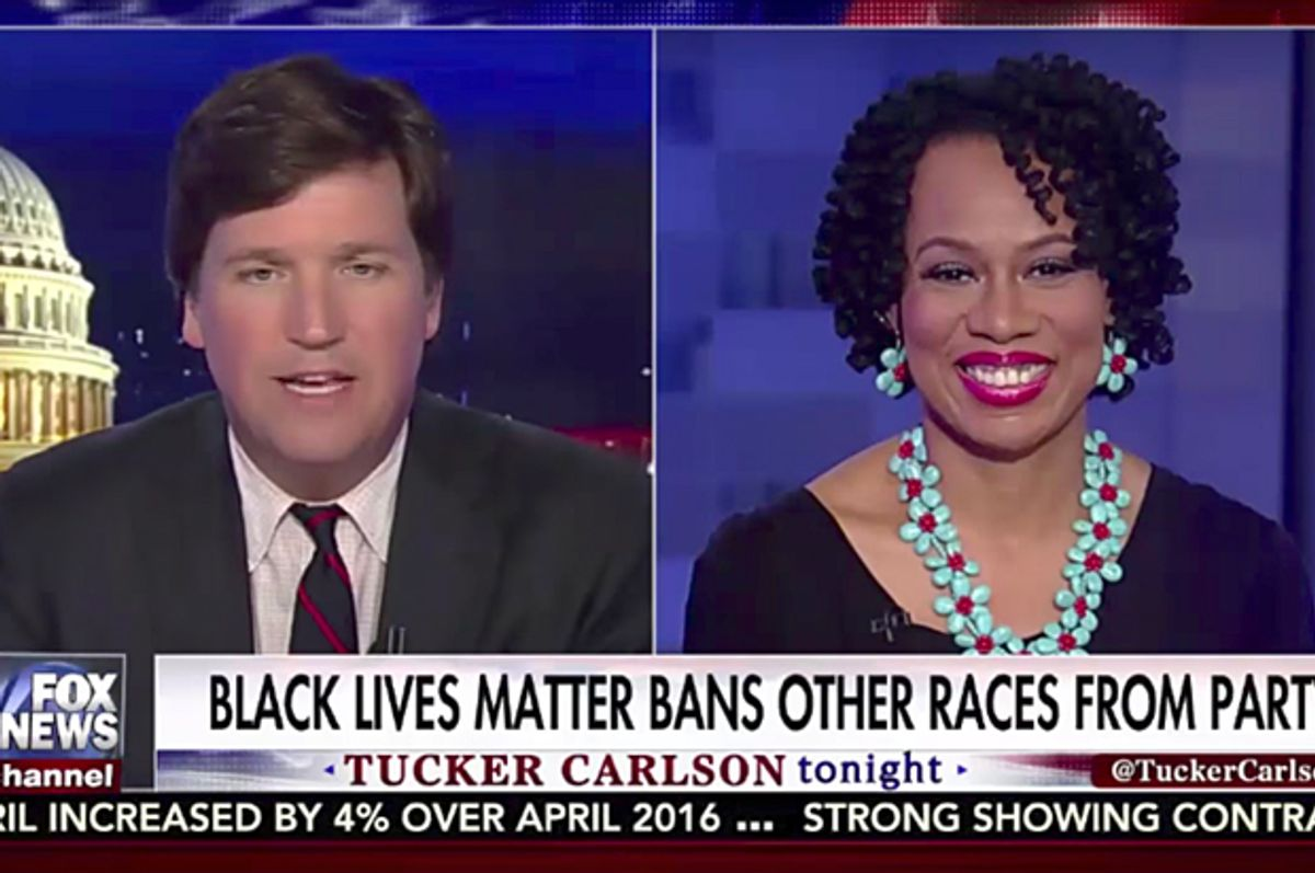 Tucker Carlson; Lisa Durden   (Fox News)