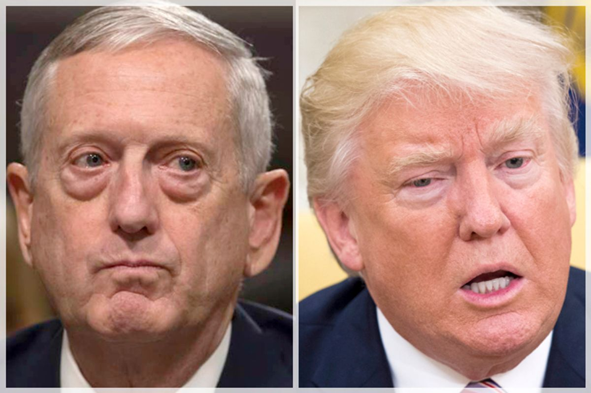 James Mattis; Donald Trump   (AP/J. Scott Applewhite/Getty/Molly)