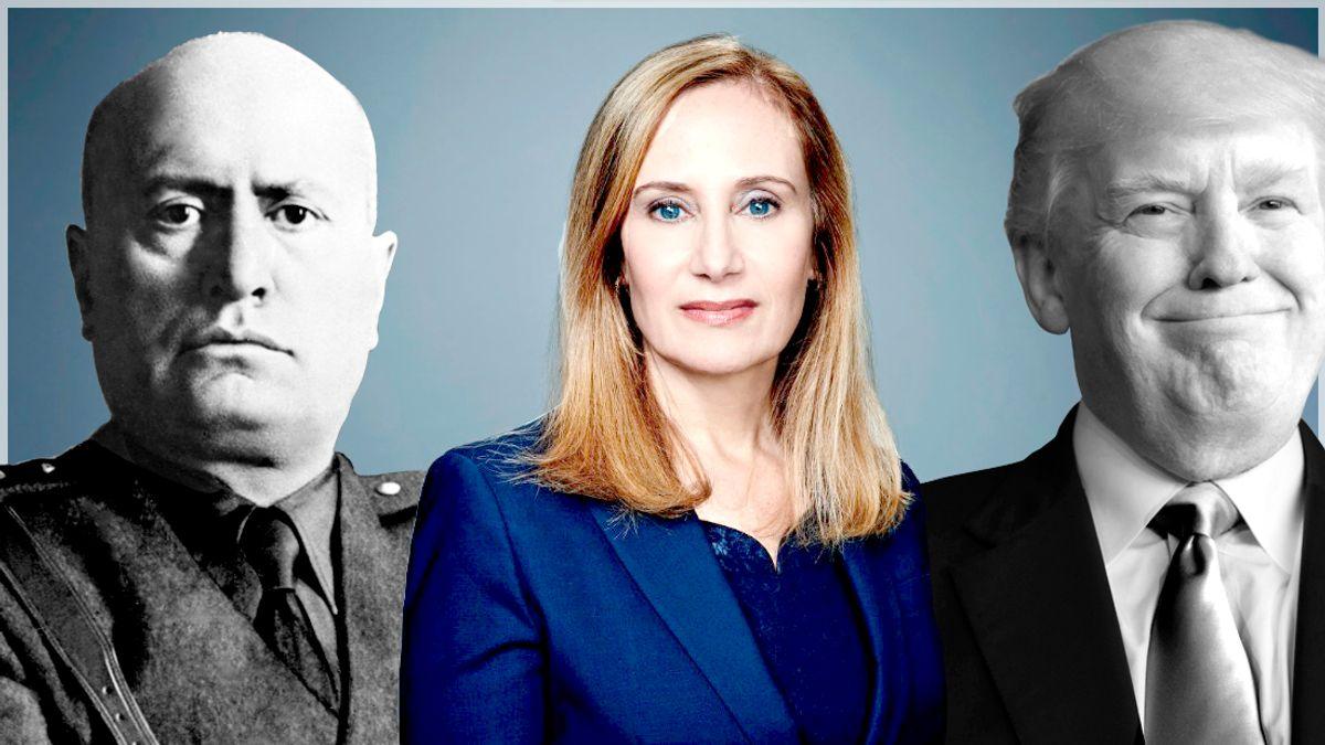 Benito Mussolini; Ruth Ben-Ghiat; Donald trump   (AP/Evan Vucci/CNN/Montage By Salon)