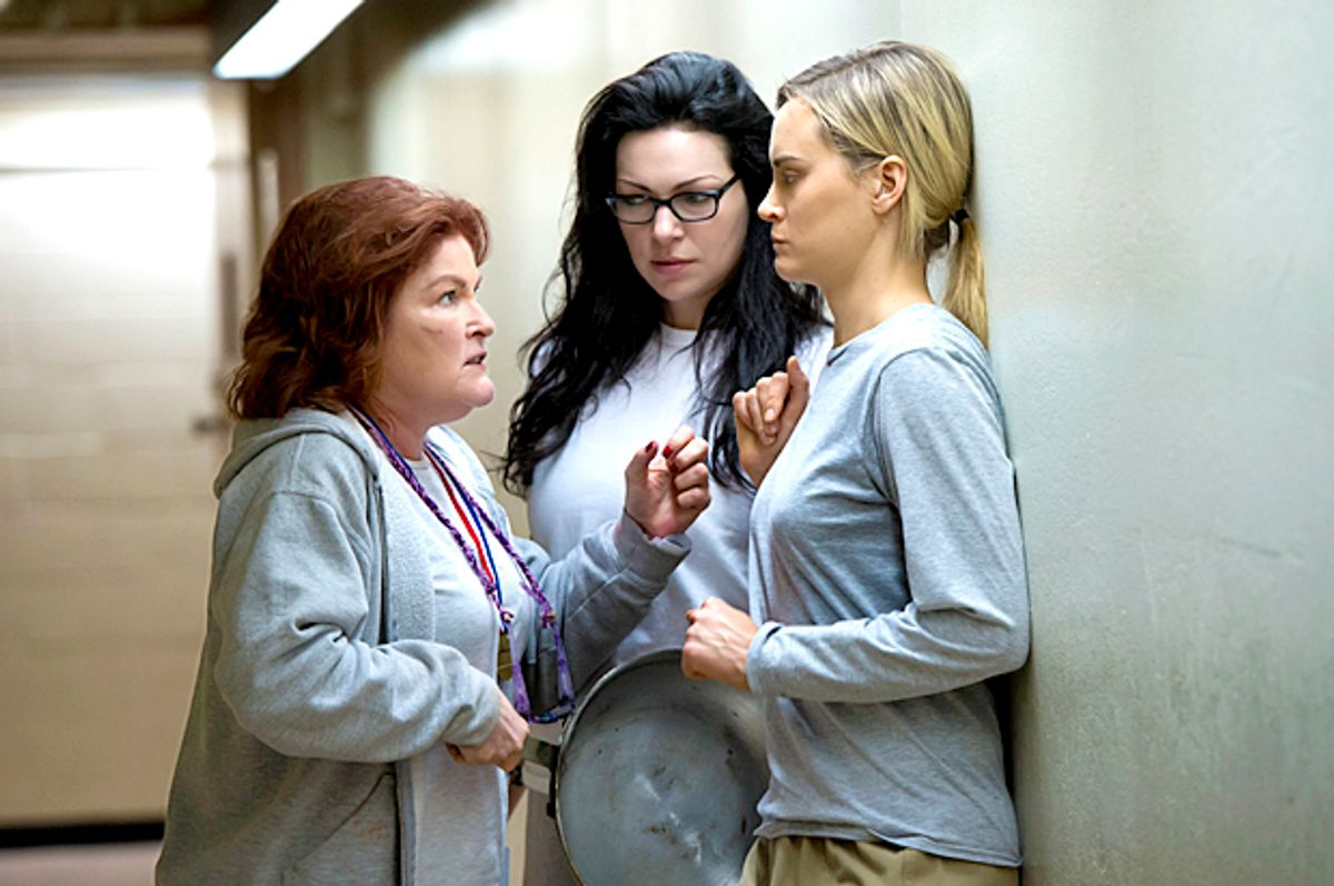 Kate Mulgrew, Laura Prepon, Taylor Schilling in Orange is the New Black (Netflix/Jojo Whilden)