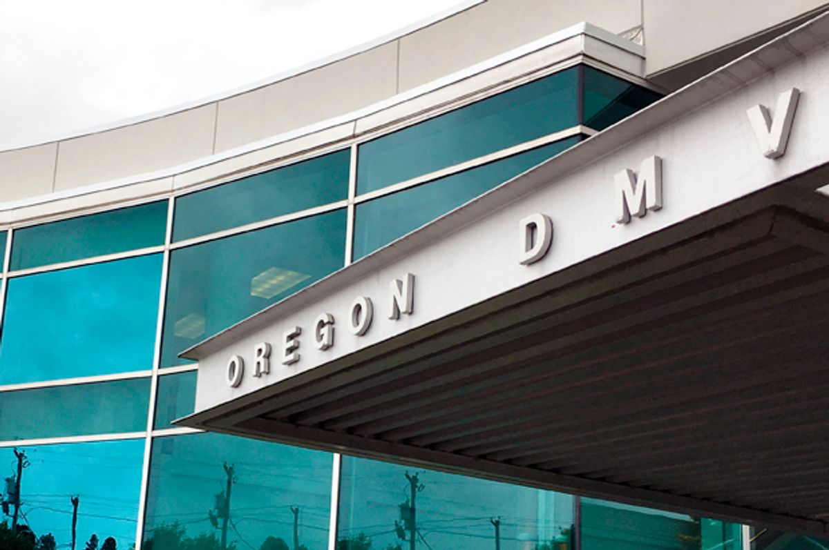Oregon's Driver and Motor Vehicles Division (AP/Andrew Selsky)