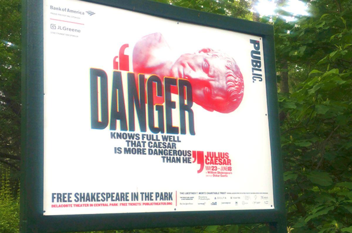 The Public Theater's production of Julius Caesar (AP/Verena Dobnik)