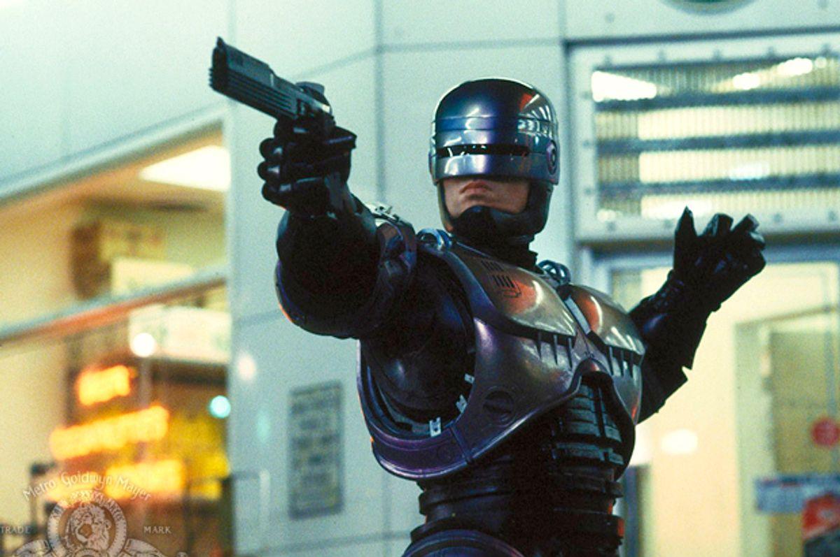 """Peter Weller as RoboCop in """"RoboCop"""" (Metro-Goldwyn-Mayer Studios)"""
