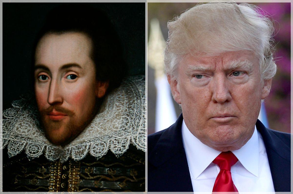 William Shakespeare; Donald Trump   (AP/Lefteris Pitarakis/Getty/Sean Gallup)