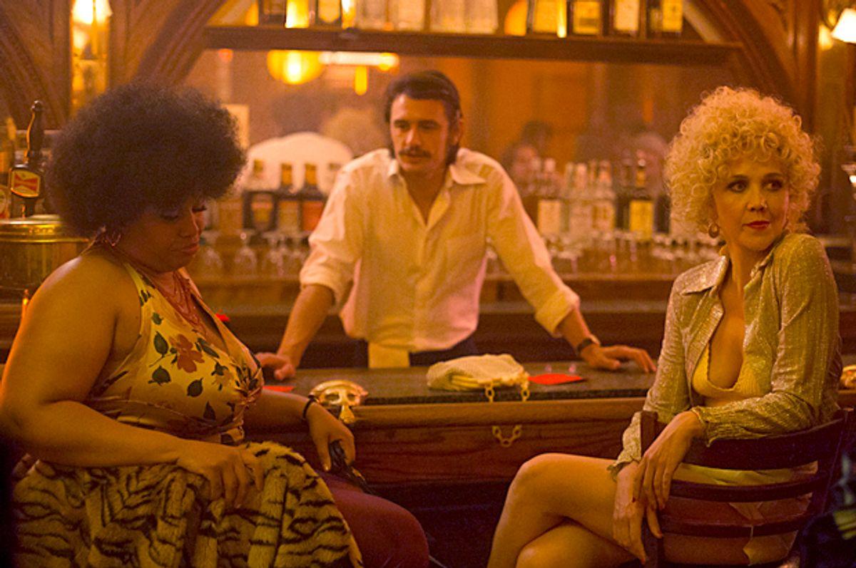 "Pernell Walker, James Franco and Maggie Gyllenhaal in ""The Deuce"" (HBO/Paul Schiraldi)"
