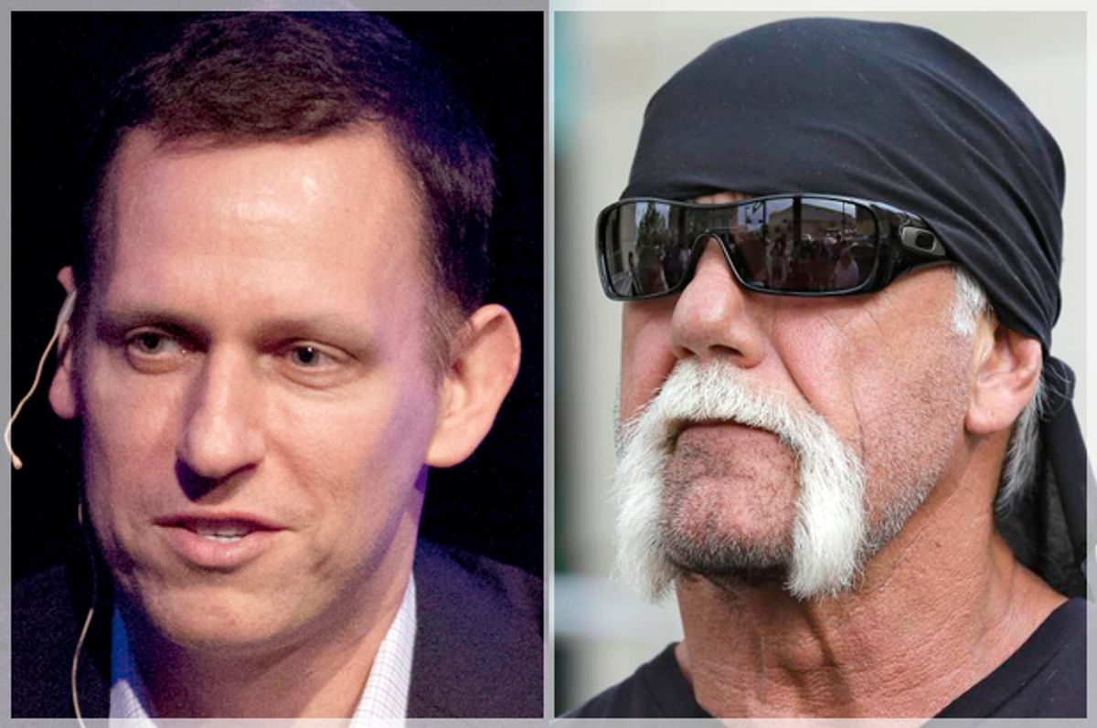 Peter Thiel; Hulk Hogan   (AP/Ben Margot/Chris O'Meara)