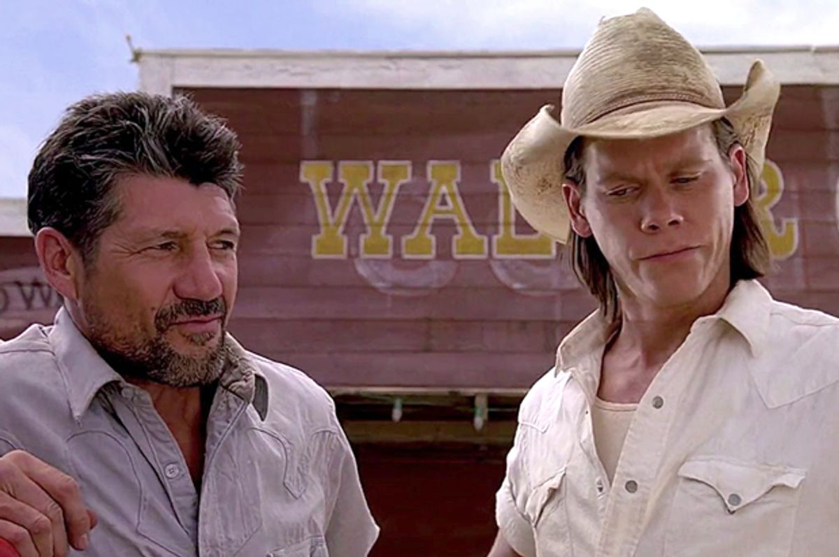 """Fred Ward and Kevin Bacon in """"Tremors"""" (Universal Pictures)"""