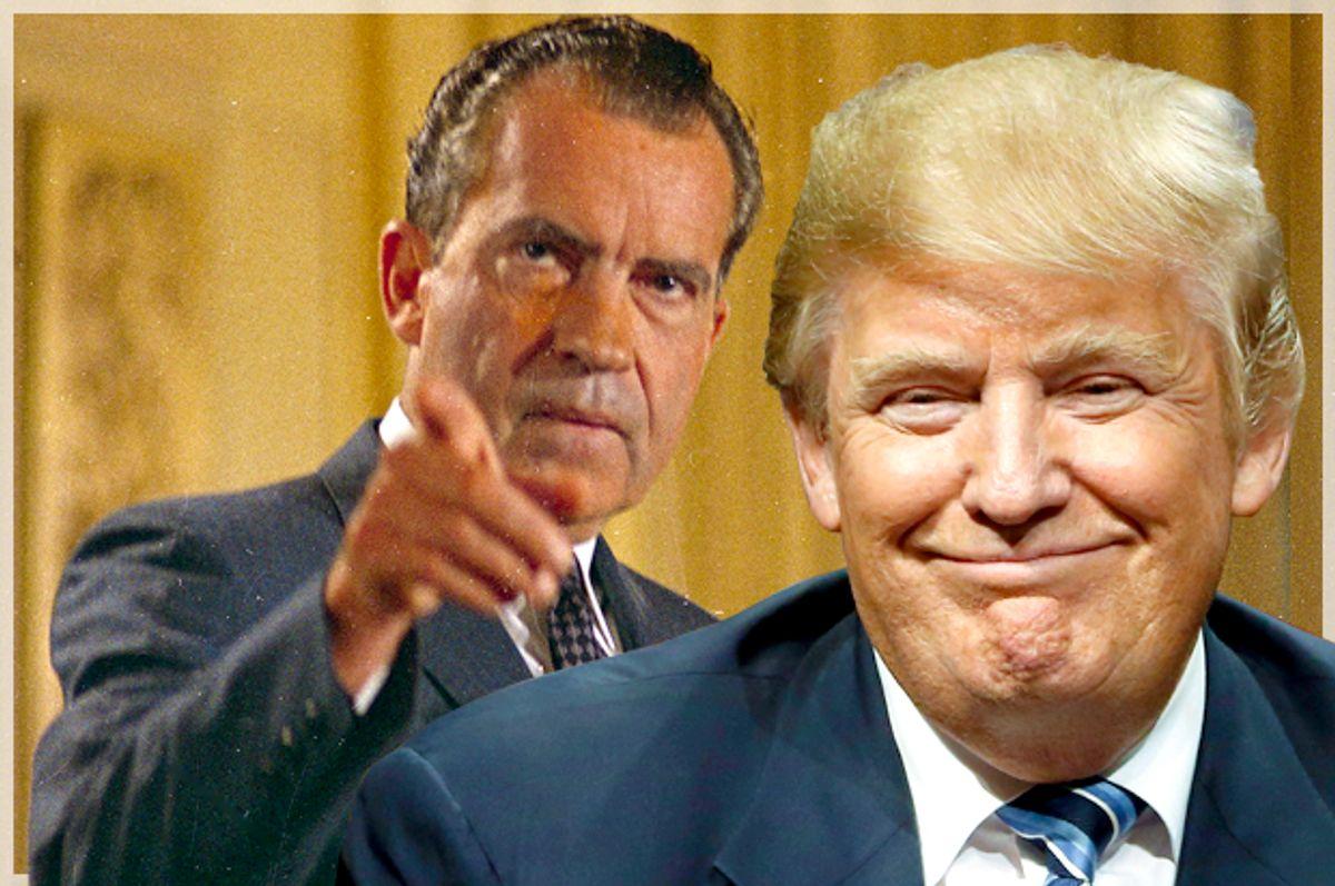 Richard Nixon; Donald Trump   (AP/Matt Rourke)