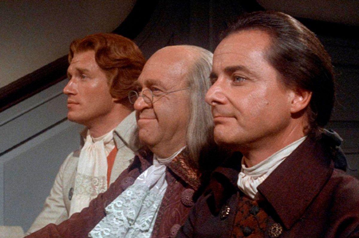 "Howard Da Silva, William Daniels and Ken Howard in ""1776""   (Columbia Pictures)"