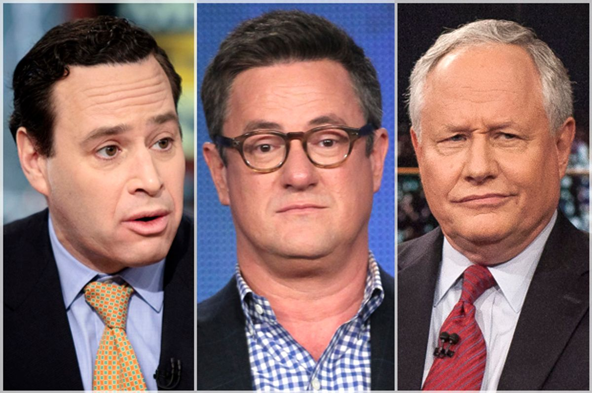 David Frum, Joe Scarborough, Bill Kristol   (Getty/Brendan Smialowski/Frederick M. Brown/AP/Janet Van Ham)