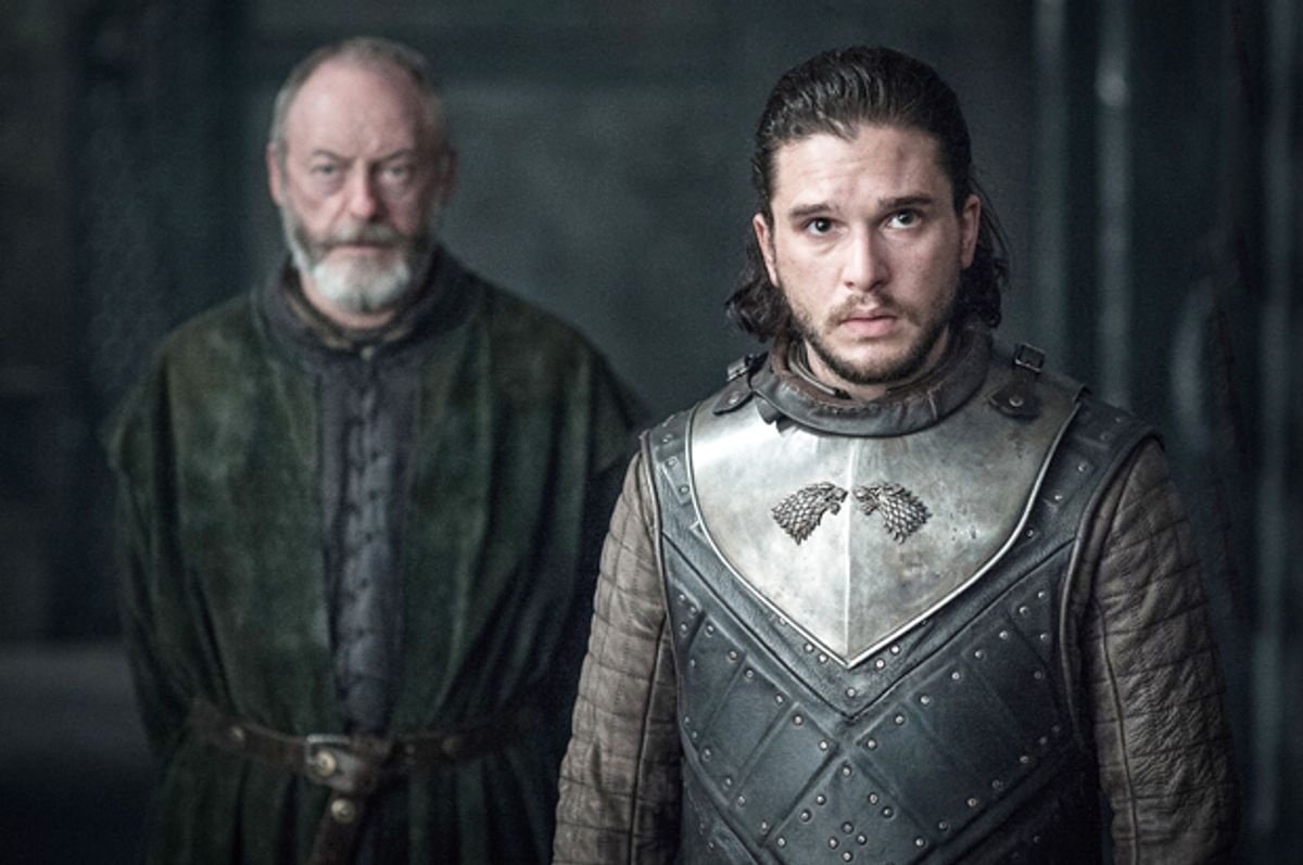 """Liam Cunningham and Kit Harington in """"Game of Thrones"""" (HBO/Helen Sloan)"""