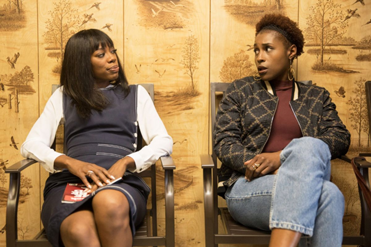 """Yvonne Orji and Issa Rae in """"Insecure""""   (HBO/Justina Mintz)"""