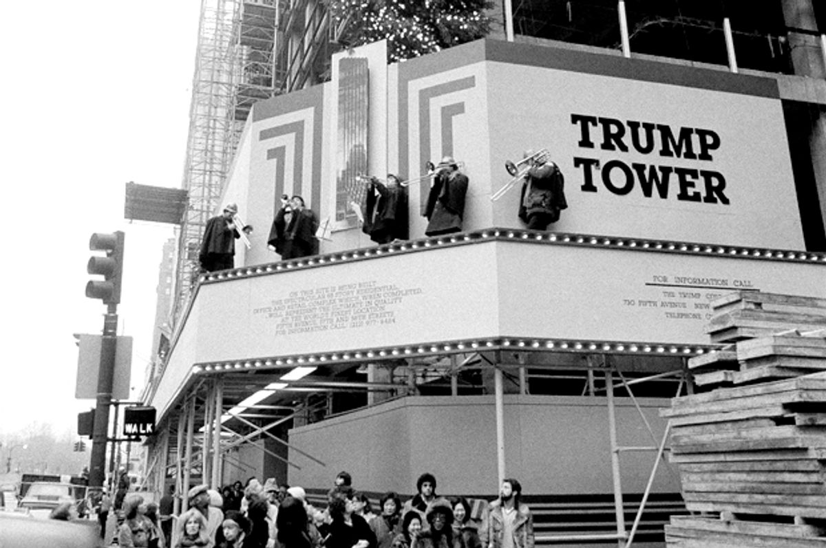Partially completed Trump Tower, Dec. 23, 1981. (AP/Suzanne Vlamis)