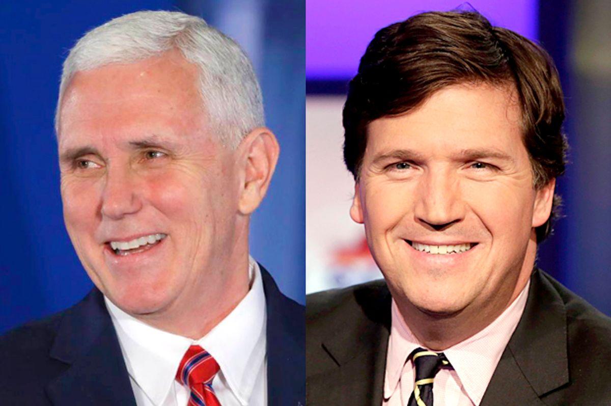Mike Pence; Tucker Carlson   (AP/Matt Rourke/Richard Drew)
