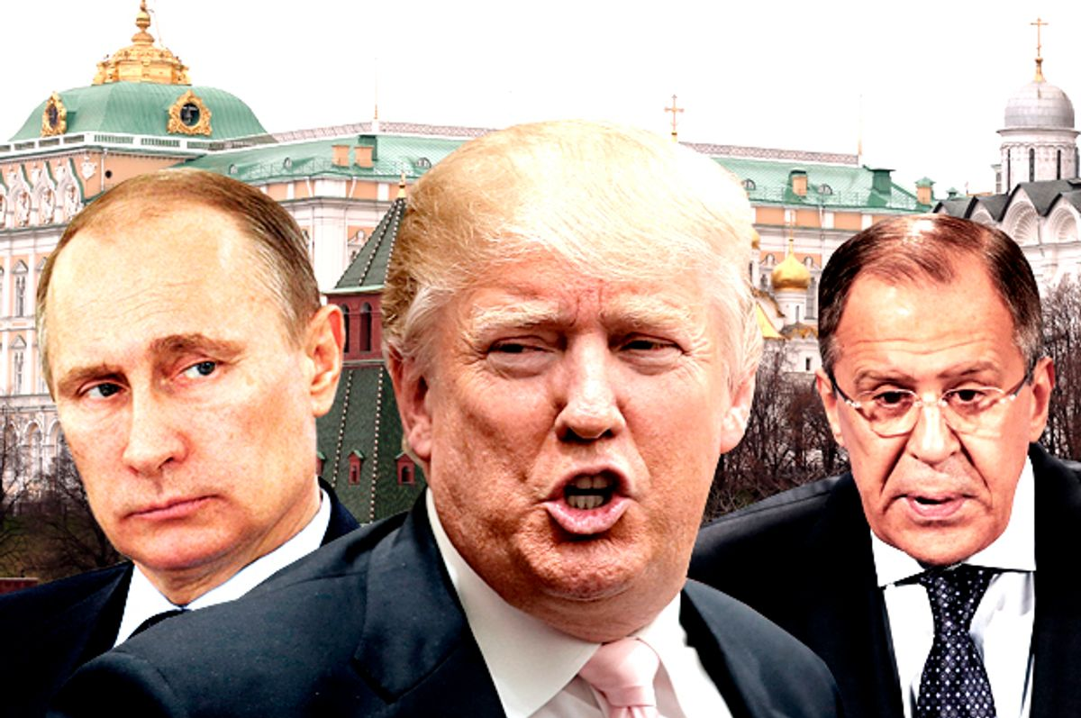 Vladimir Putin; Donald Trump; Sergey V. Lavrov   (AP/Getty/Salon)