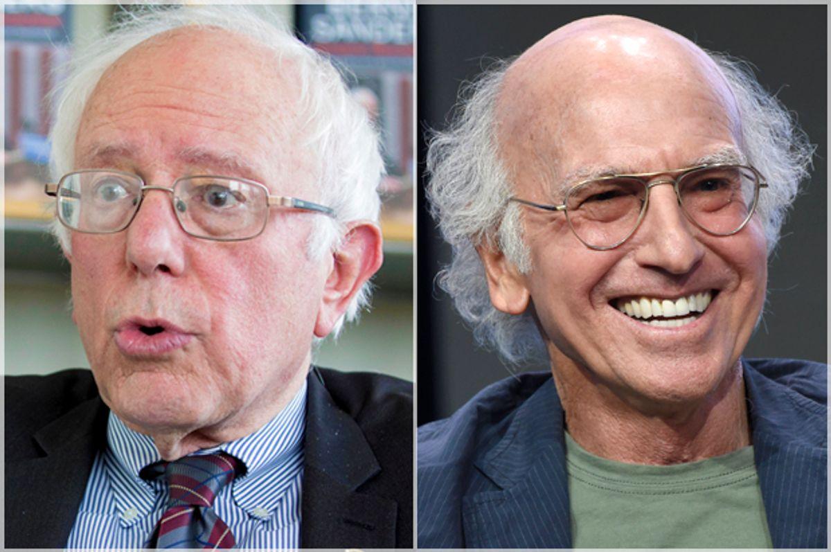 Bernie Sanders; Larry David   (AP/Kay Nietfeld/Chris Pizzello)